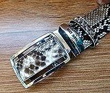 ThaiJewelry Auto Lock Buckle And Phython Skin Belt