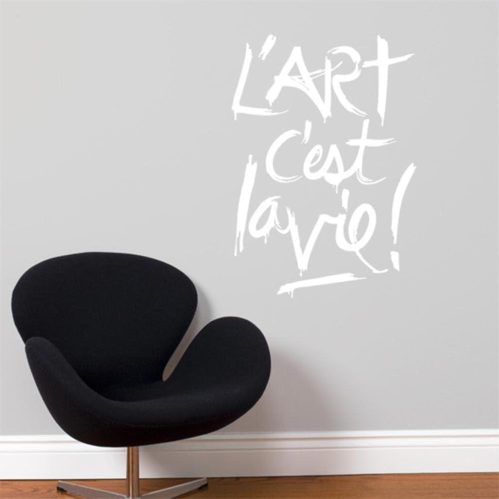 Amazon Com Blabla L Art C Est La Vie Wall Decal Color White