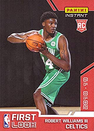 huge selection of 49f86 0b6c3 2018-19 Panini Instant Basketball #FI-23 Robert Williams III Rookie Card  Boston Celtics - 1st Official Rookie Card - Only 81 made!