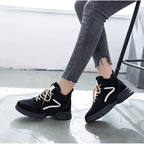 Zixuap Neige Femmes Étudiants Velours Nouveau Élevés Bottes De Coton Hiver Coréen Chaussures Pour B Chaud Aider Harajuku Sports Plus Les rrqnd0E