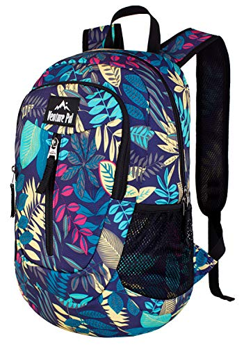 Venture Pal 25L - Durable Packable Lightweight Travel Hiking Backpack Daypack Small Bag for Men Women(Purple Leaf)
