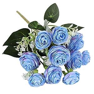 B Blesiya Artificial Flower Roses Wedding Flower for Bouquet Wedding Decor 70