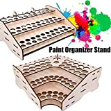 Wooden Paints Bottles Rack Modular Stand Storage
