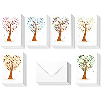 Amazon 48 pack all occasion assorted blank note cards greeting 48 pack all occasion assorted blank note cards greeting cards bulk box set 6 colorful m4hsunfo Gallery