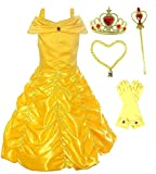 Romy's Collection Princess Belle Yellow Party Costume Dress-up Set (3-4, Yellow)