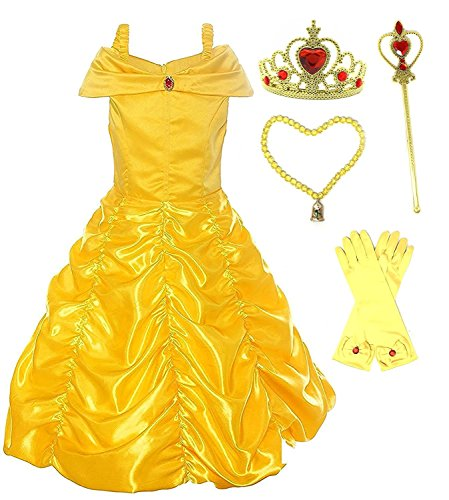 Romy's Collection Princess Belle Yellow Party Costume Dress-up Set (4-5, Yellow) for $<!--$29.99-->