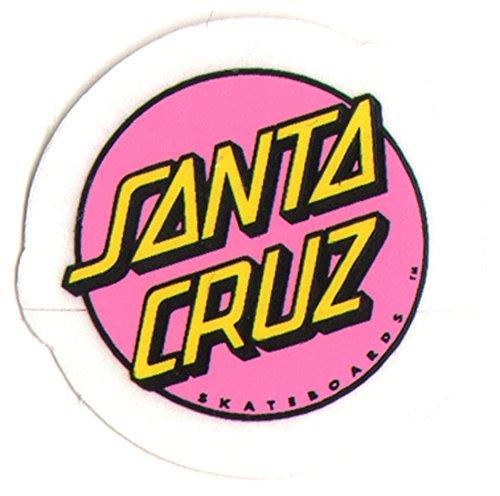 Santa Cruz Classic Logo Skateboard Sticker - skate board 3cm wide approx (Stickers Santa Cruz)