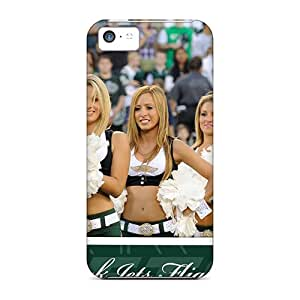 Scratch Protection Hard Cell-phone Cases For Iphone 5c With Unique Design Trendy New York Jets Skin DannyLCHEUNG