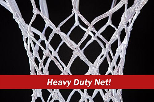 Review BETTERLINE 2-Pack Premium Quality Professional Basketball Net All-Weather Thick Heavy Duty | Multi-pack – 12 Loop Nets (White) – 2 Basketball Nets in Pack