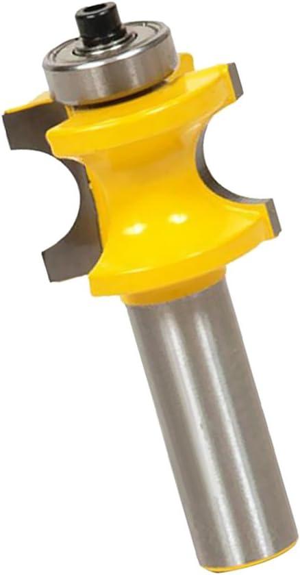 MagiDeal Fraise /à Moulurer Demi-Rond Queue Fraise /à Profils 1//2 Rond en Acier de Carbure pour Traitement de Bois 12.7 mm