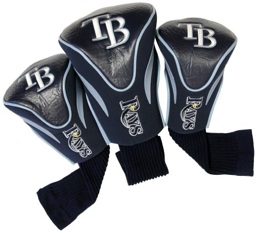 MLB Tampa Bay Rays 3 Pack Contour Head Covers