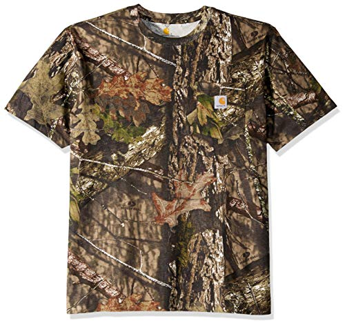 Camo Mens Short Sleeve T-shirt - Carhartt Men's Camo Short Sleeve T Shirt, 340-Mossy Oak Breakup Country, Large