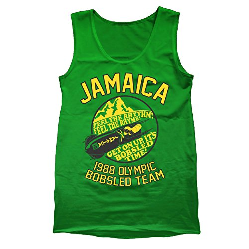 Jamaica 1988 Bobsled Team Funny Olympic Movie Winter Summer Cool Runnings Retro 80s Movie Humor Mens Tank Top X-Large - Running Outlet Apparel