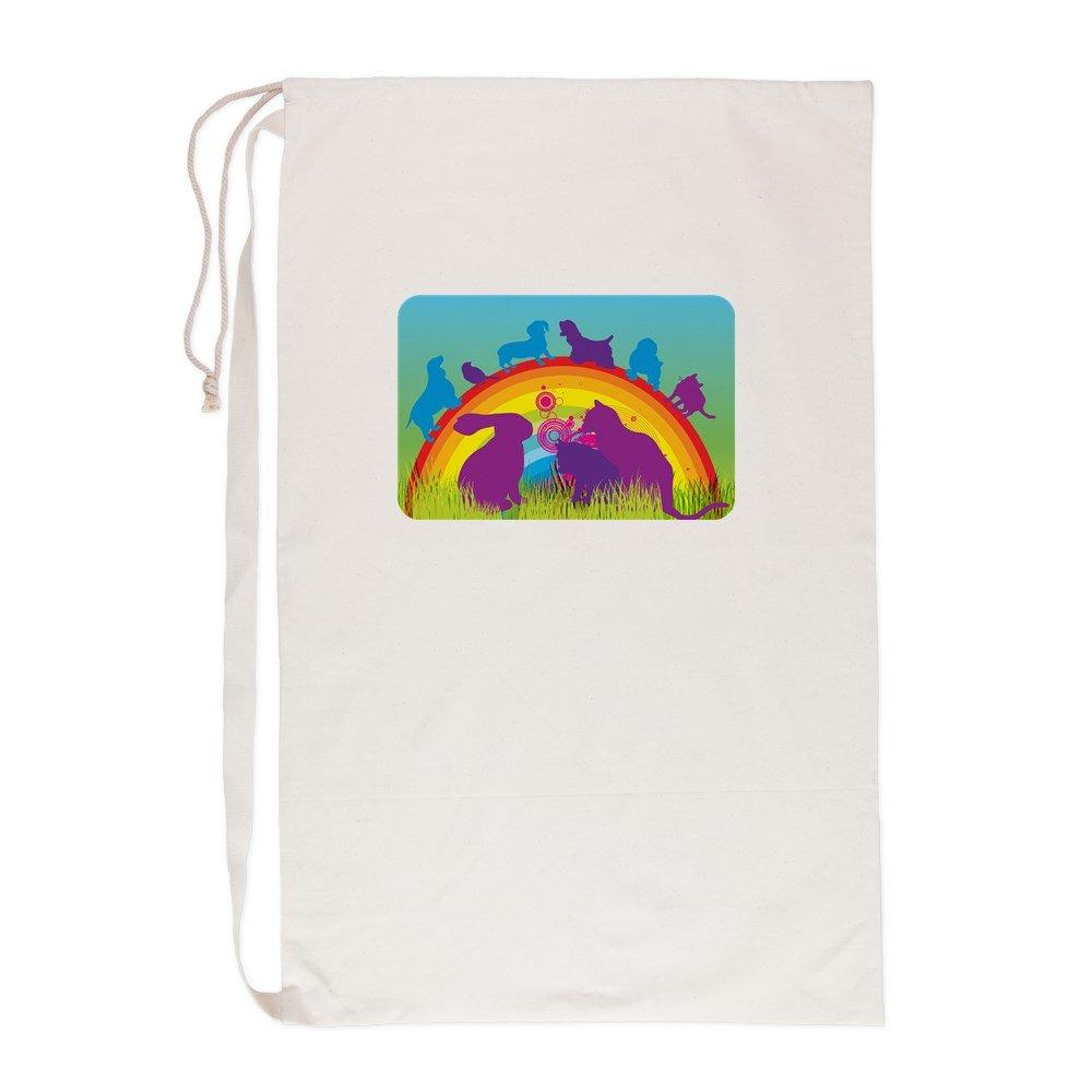 Laundry Bag Animal Dog Cat Bird Lover Rainbow
