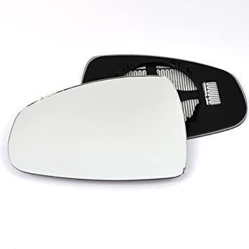 For Audi A3 2012-On Right Driver side wing door mirror glass with plate