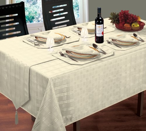 Cream Table Runner Luxury Jacquard Hampton Design Intimates 5029497595368
