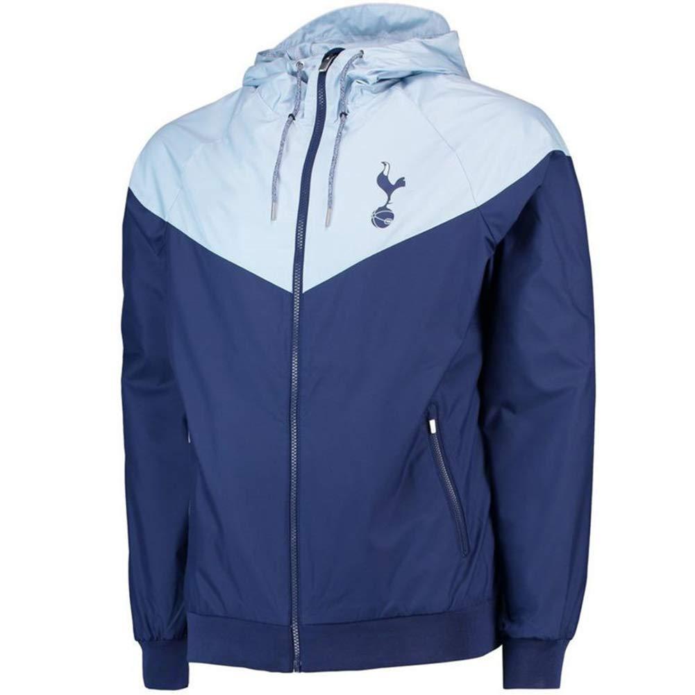 Erwachsene Fußballspiel Training Team Wear Laufbekleidung Trikot Anzug Herbst Winter Junge Student Reißverschluss Sweatshirt Top Größe 1Club-Team Blue-XL