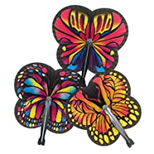 Halloween Costume Accessories for Girls Fairies Paper Butterfly-Shaped Folding Fans