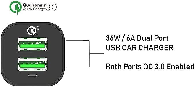 Arcanite Usb Ladegerät Usb Anschluss Dual Port Quick Elektronik