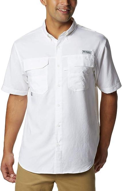 "New Mens Columbia /""Blood and Guts III/"" Omni-Shade Short Sleeve Woven Shirt"