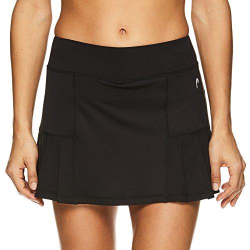 - HEAD Women's Athletic Tennis Skort - Performance Training & Running Skirt - Black Pleated, Medium