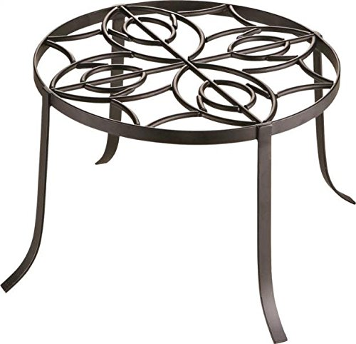 "Stand Iron Wrought (Rocky Mountain Goods Planter Stand 12"" - Extra Strength Wrought Iron - Outdoor / Inside use - Can hold 200 pounds - Rust proof - Pot holder has decorative look and finish)"