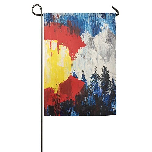 Colorado Flag Garden Flag Indoor & Outdoor Decorative Flags for Parade Sports Game Family Party Wall Banner,12.5 x 18 inch -