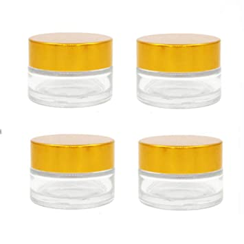 4b73a71136ea Amazon.com : ConStore 4 Pack Cream Containers Cosmetic Pots Clear ...
