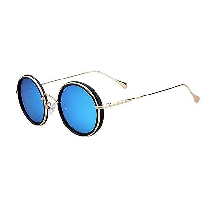 Gafas de Sol Gafas de Sol Retro rimeldas Redondas pequeñas Gafas polarizadas Protección Completa TR90 UV
