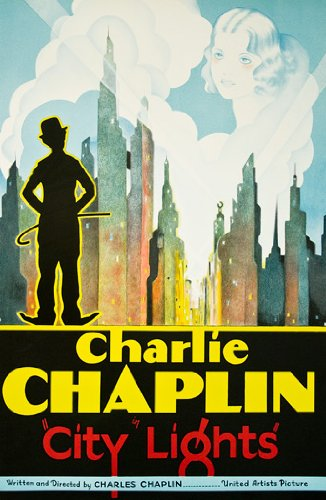 Vintage Movie Poster -Fine Art Lithograph - Charlie Chaplin - CITY (Chaplin Movie Poster)
