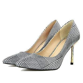 GAOLIM Chaussures Femmes Chaussures Femmes Ville Partie Fine Pointe Avec Chaussures Femmes Talon Haut,42, De L'Or