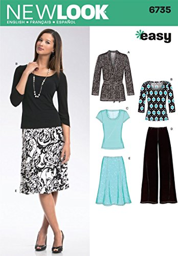 (New Look Sewing Pattern 6735 Misses Separates, Size A (10-12-14-16-18-20-22))