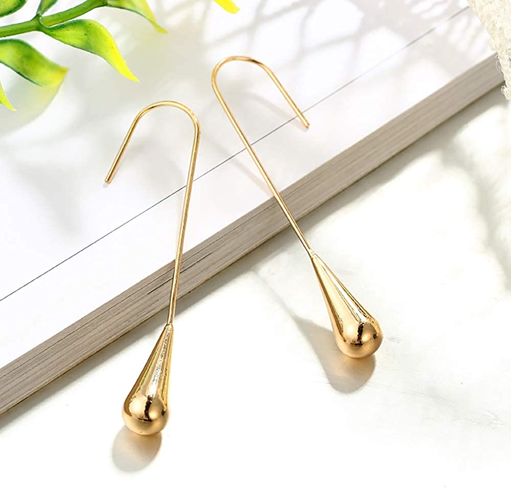 MIXIA Water Drop Earrings for Women Girls Fashion Classic Silver Plated Earring Nice Gifts