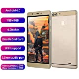 LAIHUI [2019 Upgraded] Unlocked Smartphone, 6.0 Inch Ultra Android 6.0 Quad-Core 1GB+8GB GSM