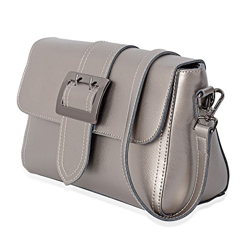 Bag Shoulder Genuine Pocket with External Removable 100 Leather Strap Zipper qftpxAA7w