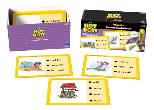 - Educational Insights Hot Dots Flash Cards- Vowels