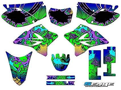 Compatible with Yamaha 2005-2019 TTR 230 Senge Graphics Zany Blue CUSTOM Complete kit