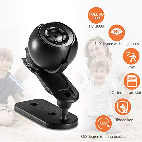 - Euone  Camera, HD 1080P Night Vision Cam Camcorder Motion Detection Mini Camera Hidden DV