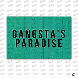 msmr entrada alfombra Felpudo Funny Gangsta 's Paradise puerta Mat Interior y Exterior para alfombra de goma Tela no tejida Top 15,7x 23,6pulgadas