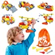 Educational Toys Helicopter Construction Motorcycle 3