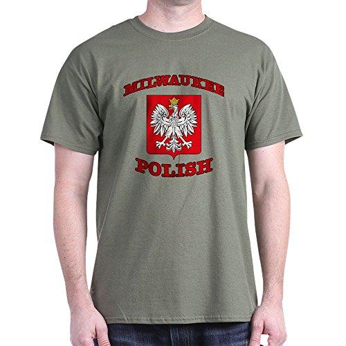 CafePress Milwaukee Dark T-Shirt 100% Cotton T-Shirt Military Green