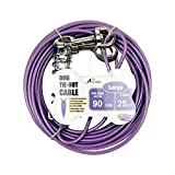 Petest 25ft Tie-out Cable with Crimp Cover & Buffer Spring for Large Dogs Up To 90 Pounds