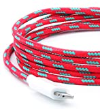 Eastern Collective Lightning Cable (1.5 Meters | 5Feet) - Apple MFI Certified for all iOS devices - iPhone 7 / 7 Plus / 6 / 6 Plus / 5S (Red/Blue)