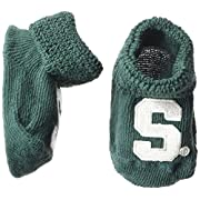 Two Feet Ahead NCAA Michigan State Spartans Infant Gift Box Booties, One Size, Green