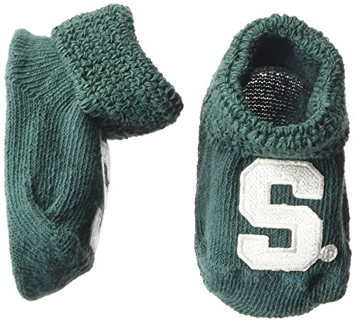 (Two Feet Ahead NCAA Michigan State Spartans Infant Gift Box Booties, One Size, Green)