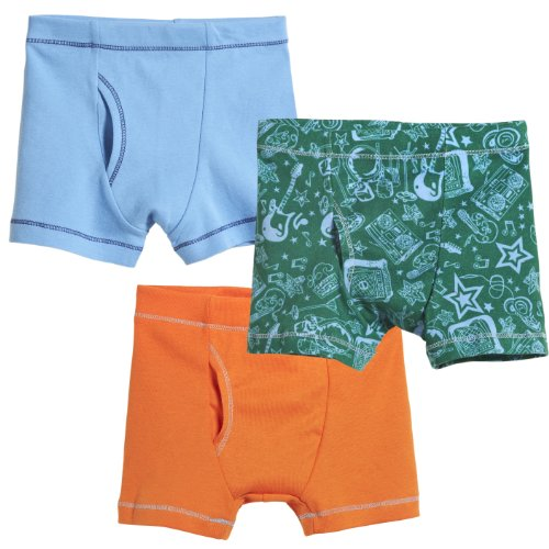 City Threads Boys' Boxer Briefs 100% Super Soft Cotton for Sensitive Skin Sensory Friendly SPD School Play Sports Active, 3-Packs, Fun Boy, 5]()