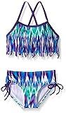 Kanu Surf Big Girls Kelly Fringe Bikini Swimsuit, Purple, 8