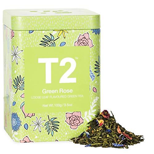 T2 Tea Green Rose Tea, Loose Leaf Green Tea in Tin, 3.5oz (100g), 3.5 oz