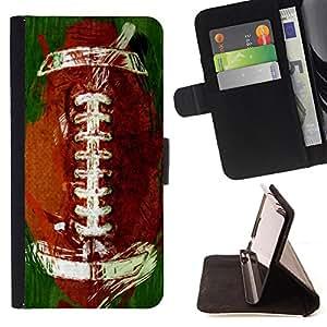 Super Marley Shop - Funda de piel cubierta de la carpeta Foilo con cierre magn¨¦tico FOR Sony Xperia Z2 L50t L50W L50U- American Football