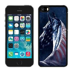 Horse Black Abstract Design Custom iPhone 5C Case